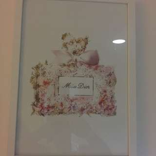 Chic Miss Dior Bottle Framed Print
