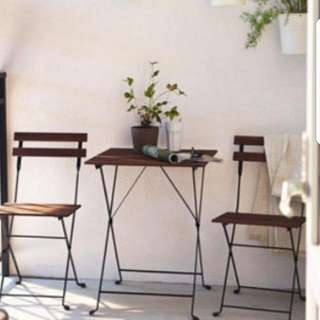 SOLD [GIVEAWAY] TÄRNÖ Outdoor Table+2 chairs -