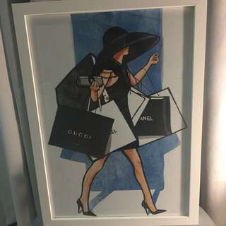 Stunning Framed Print Gucci Chanel