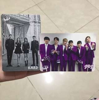 Kard , JBJ yes card $3 for 1
