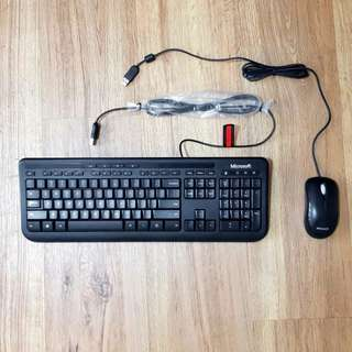 Microsoft keyboard and mouse combo set