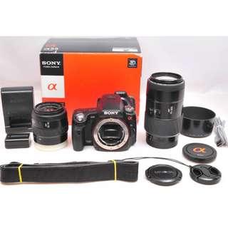 【售】SONY α55 單眼相機 附兩個鏡頭/一個原廠電池 日規機