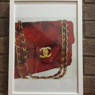Chanel Handbag Framed Print