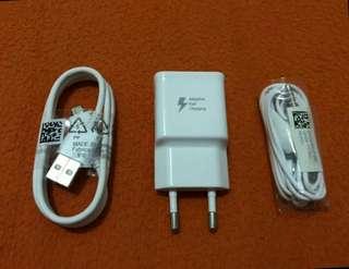 Charger fastcharging dan headset samsung original