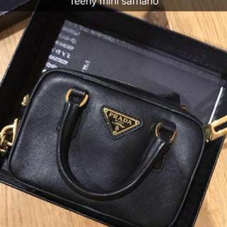 Prada saffiano mini bag, cross body