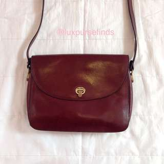 AIGNER Maroon Leather Crossbody Bag
