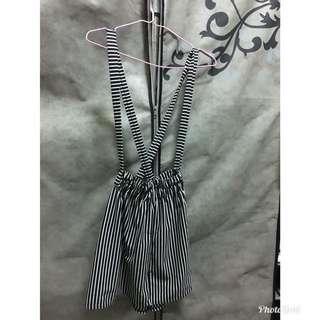 🚚 (近全新)條紋吊帶裙