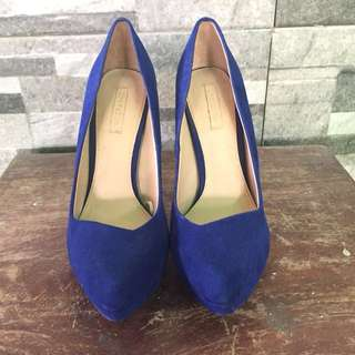 Zara heels in blue