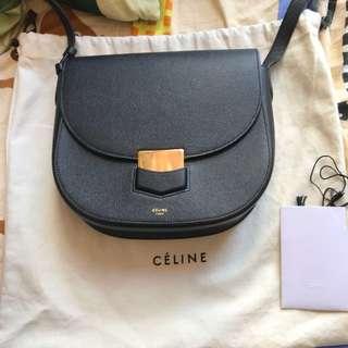 Celine 黑色trotteur bag