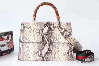 Gucci 古奇   獨家定制頭層蛇紋皮 款號421999 大號尺寸:3423.512cm。