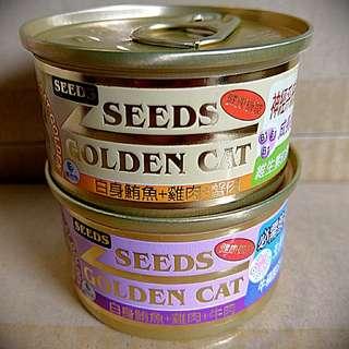 🚚 seeds 黃金貓罐 80g