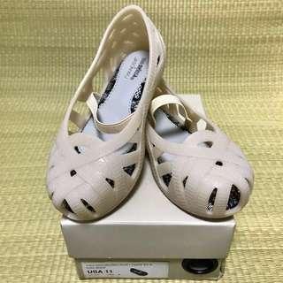 BN Mini Melissa Jean + Jason Wu Beige Shoes US11 (2016)