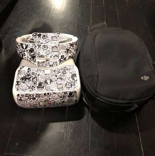 DJI Goggles In Brand New Condition With Decalgirl Wrap AND DJI Googles Bag