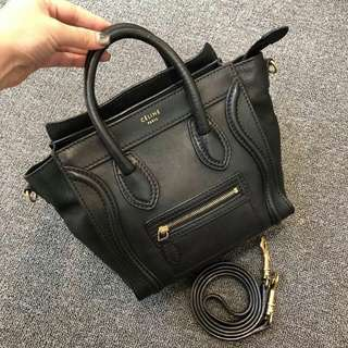 celine nano bag black