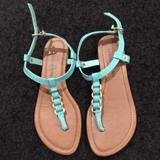 Teal/Green sandals
