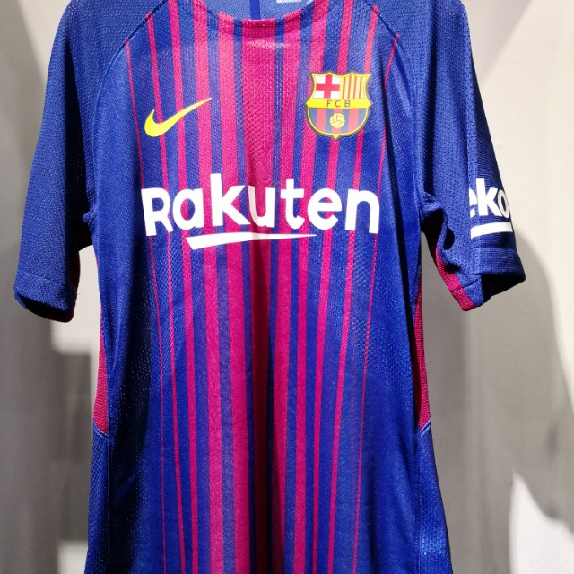 new products ea058 c41a2 2017/18 Barcelona Home Kit Jersey Player Issue Nike Aeroswift