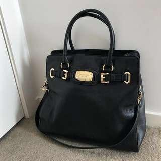 🖤 Michael Kors Black Leather Hamilton Tote Handbag 🖤