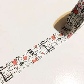 Happy cats washi tape