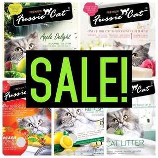 SALE!!! Fussie Cat Sand Litter 10L