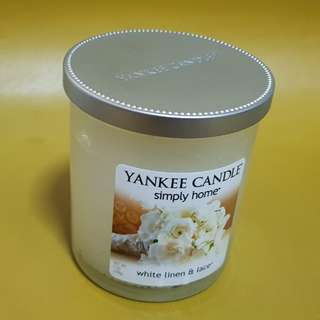 Yankee Candle - White Linen & Lace