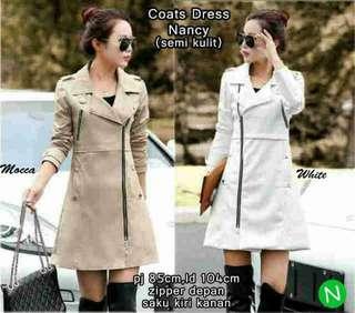 (P) - @90rb - A13638- Coats Dress Nancy 65205 (121) (semi kulit) XL,Ld104,pj 85,brt 0,40kg zipper depan,saku kanan kiri