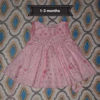 Preloved dress for baby girl 1-3months