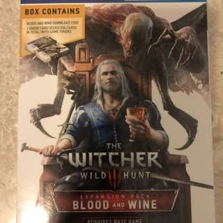 PS4 The Witcher Blood & Wine Expansion (not base game)