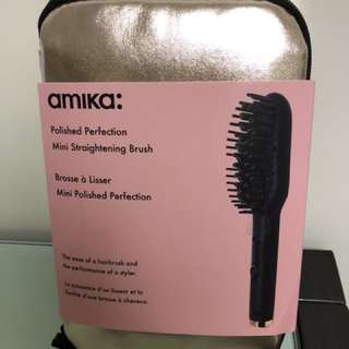 全新Amika直髪梳 Polished Perfection Mini Straightening Brush