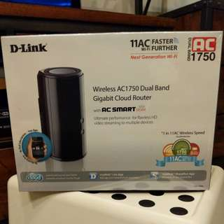 Wireless Router - Brand New Dlink Wireless AC1750 Dual-Band Gigabit Cloud Router