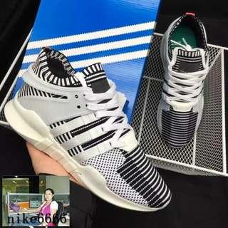 Adidas EQT Support ADV PK 三葉草男鞋 編織跑步運動鞋 白斑馬