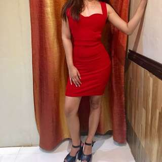 bloody red short dress