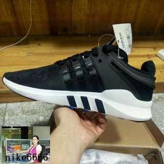 adidas三葉草EQT運動鞋support ADV黑白男女慢跑休閑跑步鞋