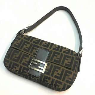 💯AUTHENTIC FENDI ZUCCA DINNER BAG/ MINI HANDBAG