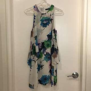 Zara Floral Halter Dress