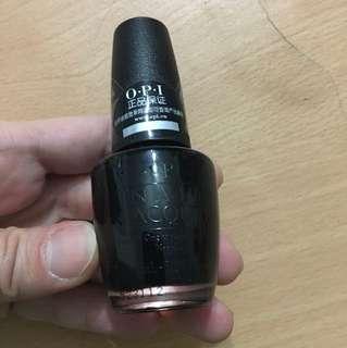 OPI nail colour - black