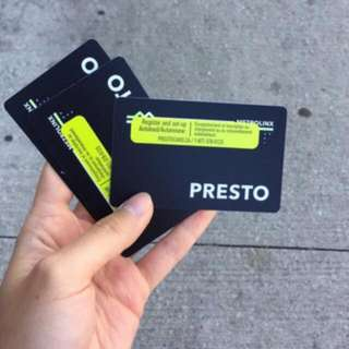 Presto card 311$ balance for only 180$