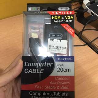 HDMI to VGA cable ( Full-HD 1080p )