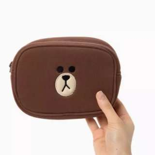 BN Line Character Brown Makeup Pouch @ $15