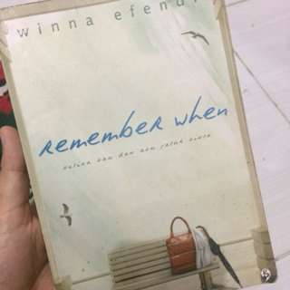 Novel Remember When by Winna Efendi