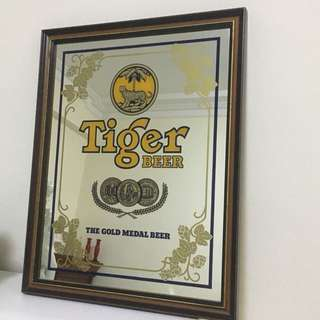 Vintage Tiger beer wall decor/mirror