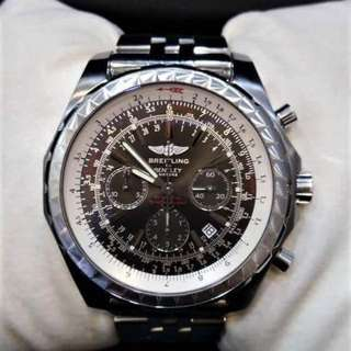 USED BREITLING BENTLEY MOTORS T BLACK DIAL AUTOMATIC S/S 48MM FULL SET (YEAR 2013)