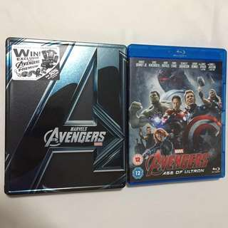 Avengers 1 and 2 Movie Blu Ray