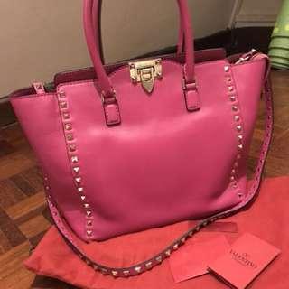 Valentino Rockstud Bag in Fuchsia