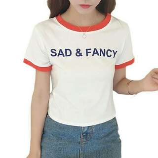 Sad & Fancy Unisex Design Shirt T-Shirt Tee