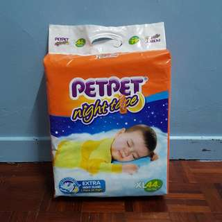 Drypers PetPet Night Tape XL 44