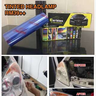 Tinted Head Lamp