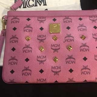 MCM  classic Pink Clutch