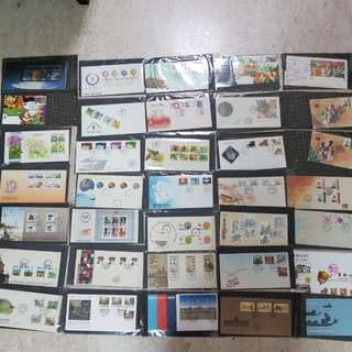 First Day Covers stamps since 1980