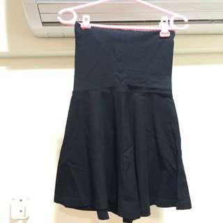American Apparel 經典高腰裙 黑色 彈性