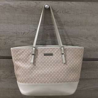 Auth Nine West Tote Bag with Zipper